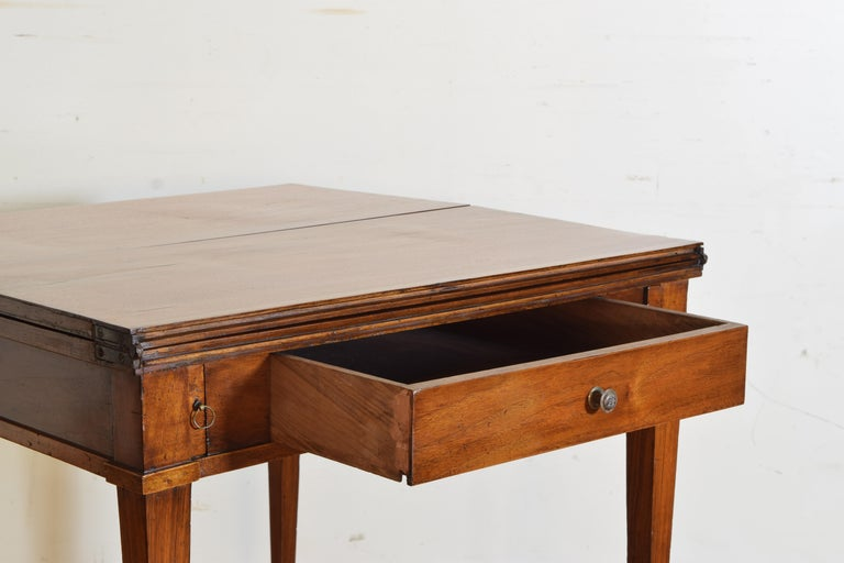 Italian, Lombardy, Directoire Cherrywood Folding Games Table, circa 1810 For Sale 4