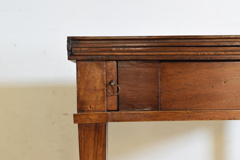 Italian, Lombardy, Directoire Cherrywood Folding Games Table, circa 1810 For Sale 5