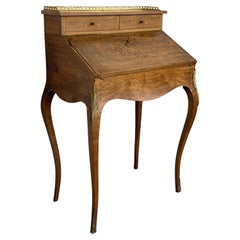 Italian Louis XV Style Folding Secretaire Desk with One Drawer, 1950