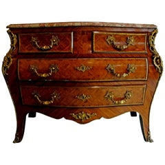 Italian Louis XV Style Marquetry Commode or Chest