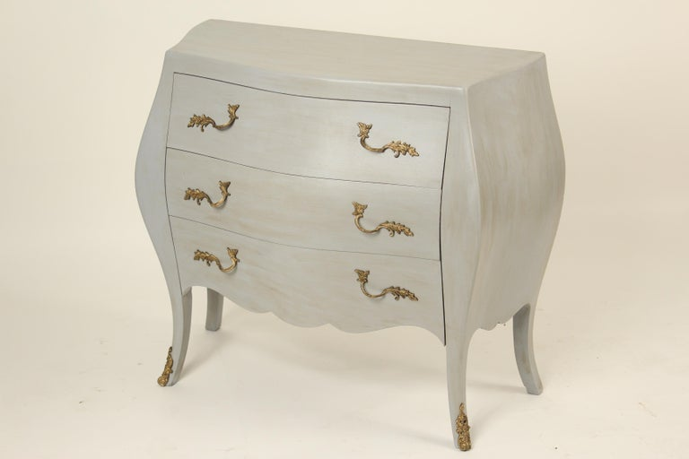 Italian Louis XV Style Painted Chest of Drawers In Good Condition For Sale In Laguna Beach, CA