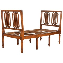 Italian Louis XVI Period Carved Fruitwood Bench