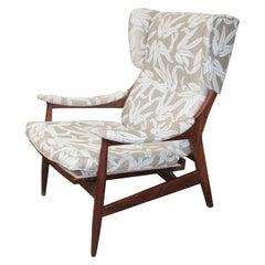 Italian Lounge Chair 1960s Teak Framar Frattini style