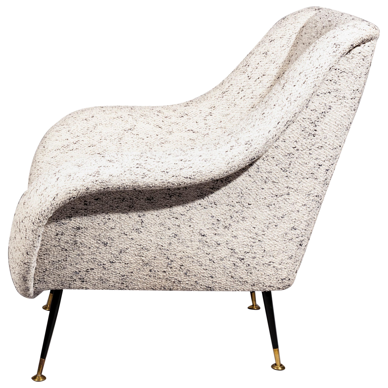 Italian Lounge Chair, Gigi Radice for Minotti, in Metaphores Bouclette