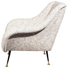 Italian Lounge Chair, Gigi Radice for Minotti, in Metaphores Bouclette
