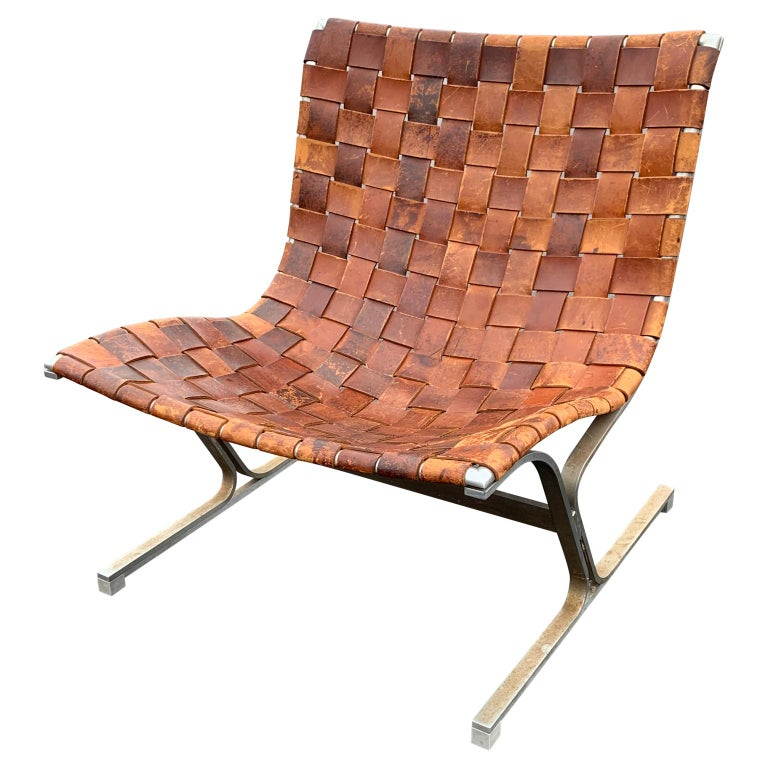 Strange Italian Lounge Chair In Cognac Color Leather By Ross Littell Milan Circa 1965 Gamerscity Chair Design For Home Gamerscityorg