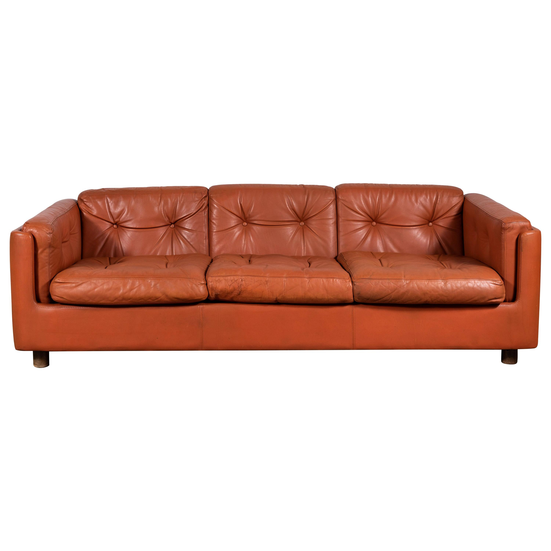 Zanotta Leather Upndown Sofa At 1stdibs