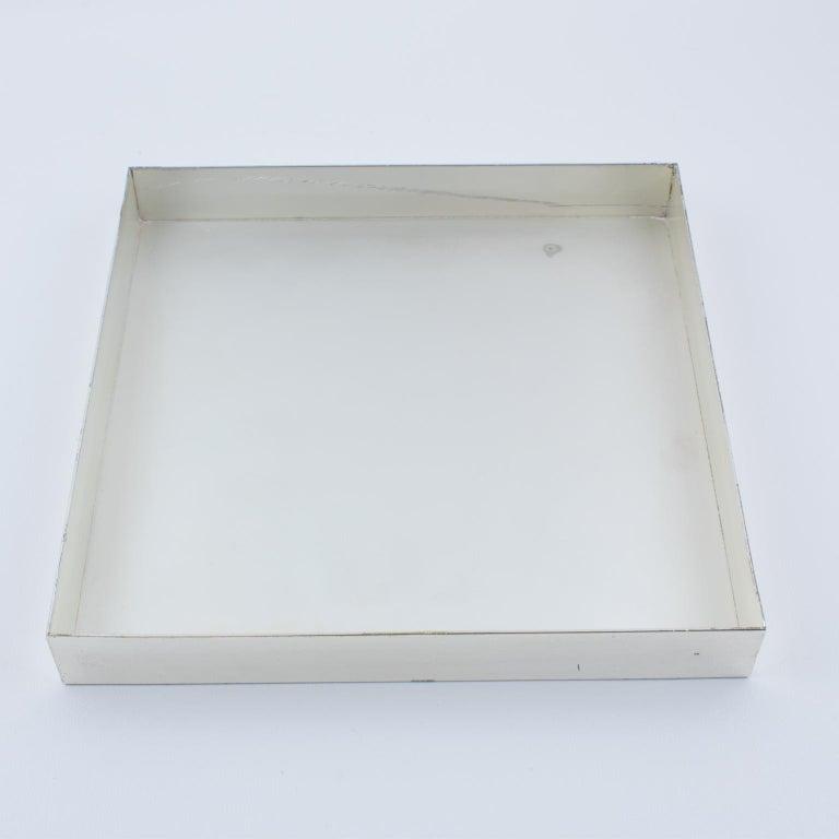 Italian Lucite and Silver Plate Box In Good Condition For Sale In Atlanta, GA