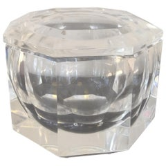 Italian Lucite Faceted Ice Bucket