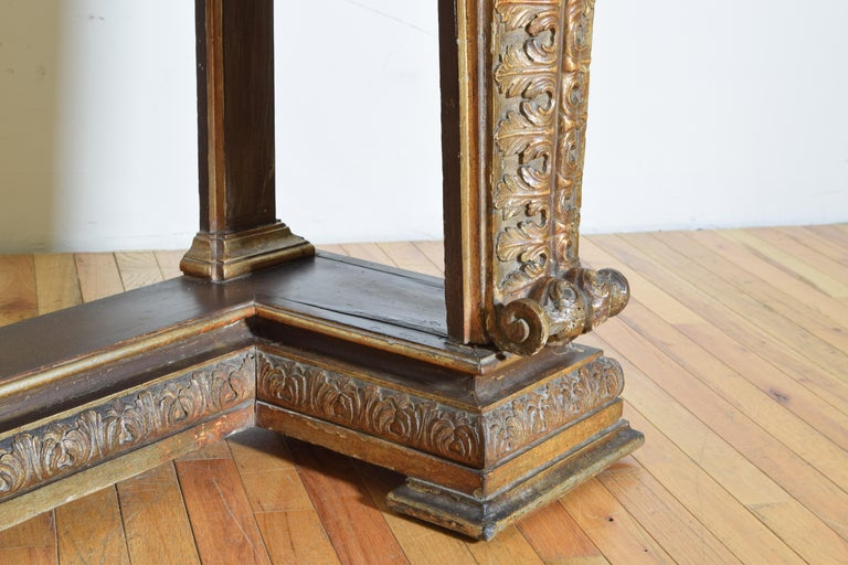 Italian, LXIV Style, Baroque Revival Giltwood Console, Marble Top For Sale 7