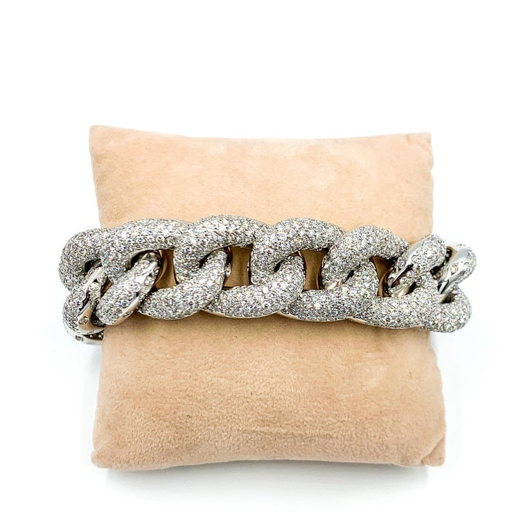 This stunning Italian made bracelet came to us from an estate in Capri. It has magnificent weight and magnitude and was masterfully hand-crafted with the finest attention to detail.   At 8