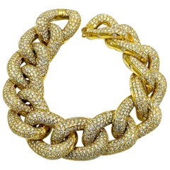 Italian Made 18 Karat Carat Yellow Diamond Bracelet