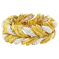 Italian Made 8 Carat Diamond Bracelet 18 Karat Gold