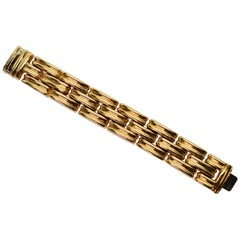 Italian Made Retro Style Yellow Gold Link Bracelet