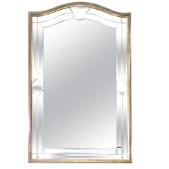 Italian Made Silver Leaf Beveled Mirror by Decorative Crafts