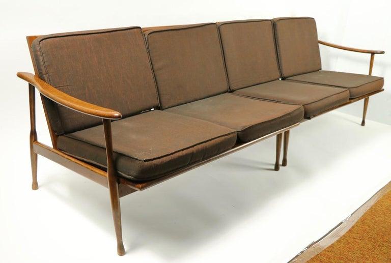 Mid-Century Modern Italian Made Sofa in the Danish Modern Style For Sale
