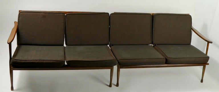 Italian Made Sofa in the Danish Modern Style In Good Condition For Sale In New York, NY