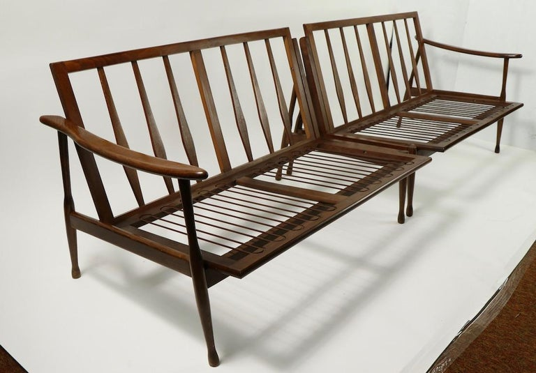 20th Century Italian Made Sofa in the Danish Modern Style For Sale