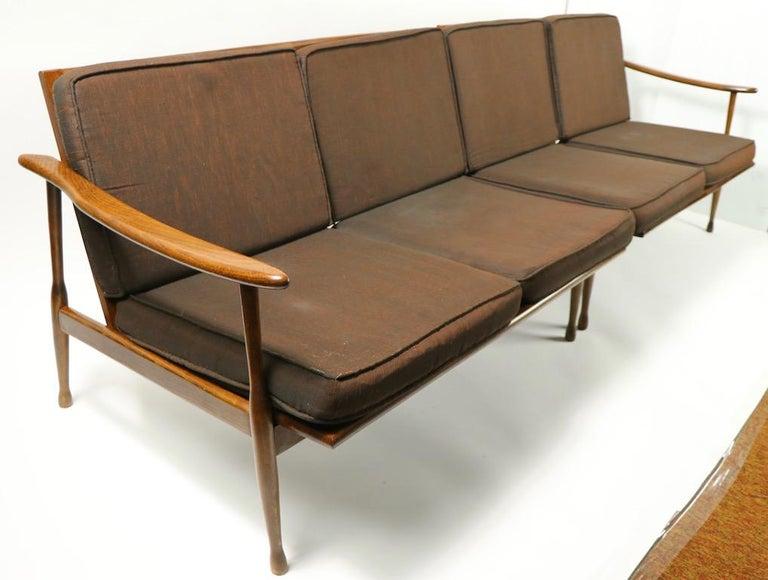Italian Made Sofa in the Danish Modern Style For Sale 2