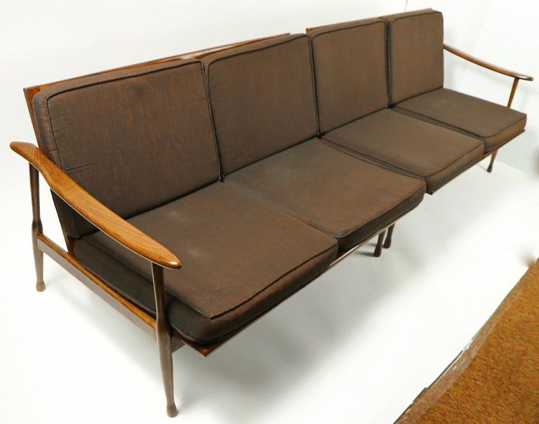 Italian Made Sofa in the Danish Modern Style For Sale 3