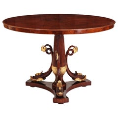 Italian Mahogany and Parcel-Gilt Centre Table