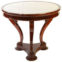 Italian Mahogany Gueridon Center Table, Late 1795