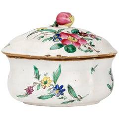 Italian Maiolica Ancient Sugar Bowl, Lodi, 1770-1780