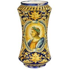 Italian Majolica Albarello or Apothecary Jar