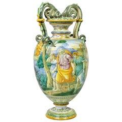 Italian Majolica Vase by Cantagalli