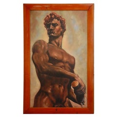 Italian Male Nude Painting by Artist Falfavino