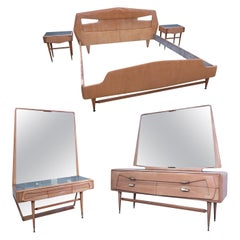 Italian Maple Bedroom Set Attributed to Silvio Cavatorta, 1950s