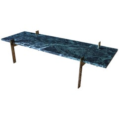 Italian Marble and Brass Coffee Table, 1960s