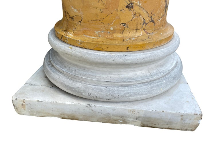 19th Century Italian Marble and Siena Scagliola Pedestal For Sale