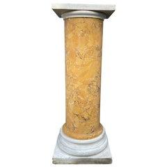 Italian Marble and Siena Scagliola Pedestal