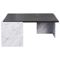 Italian Marble and Slate Coffee Table