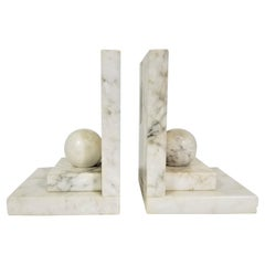 Italian Marble Bookends Mid Century