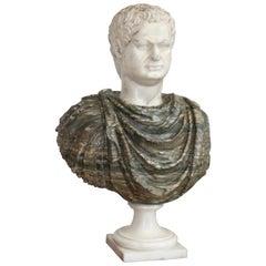 Italian Marble Bust of a Roman Emperor, 18th Century