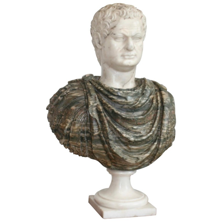 Italian Marble Bust of a Roman Emperor, 18th Century For Sale