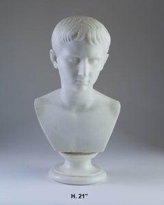 Italian Marble Bust of Caesar, 19th Century