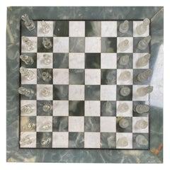 Italian Marble Chess Board, Early 20th Century