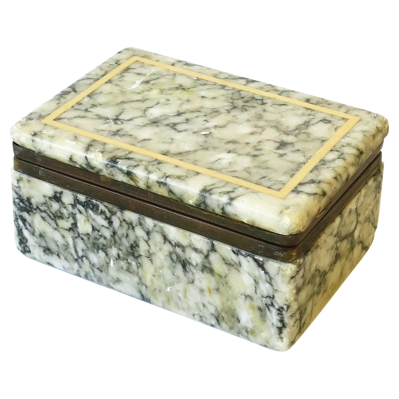 Italian Marble Dresser or Jewelry Box