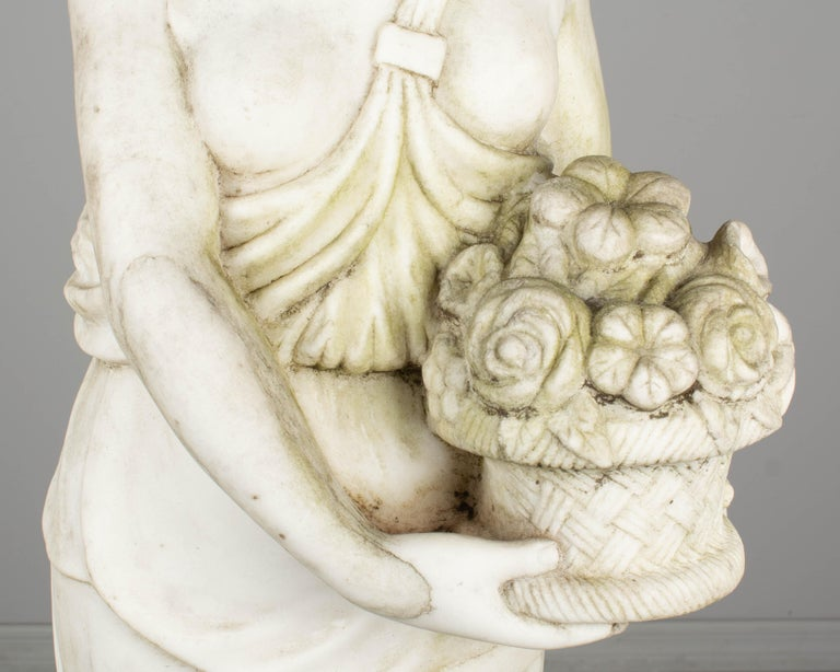 Italian Marble Garden Statue For Sale 4