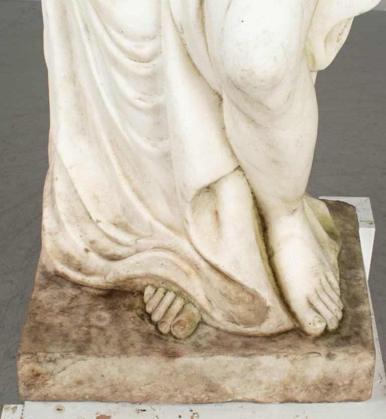 Italian Marble Garden Statue For Sale 5