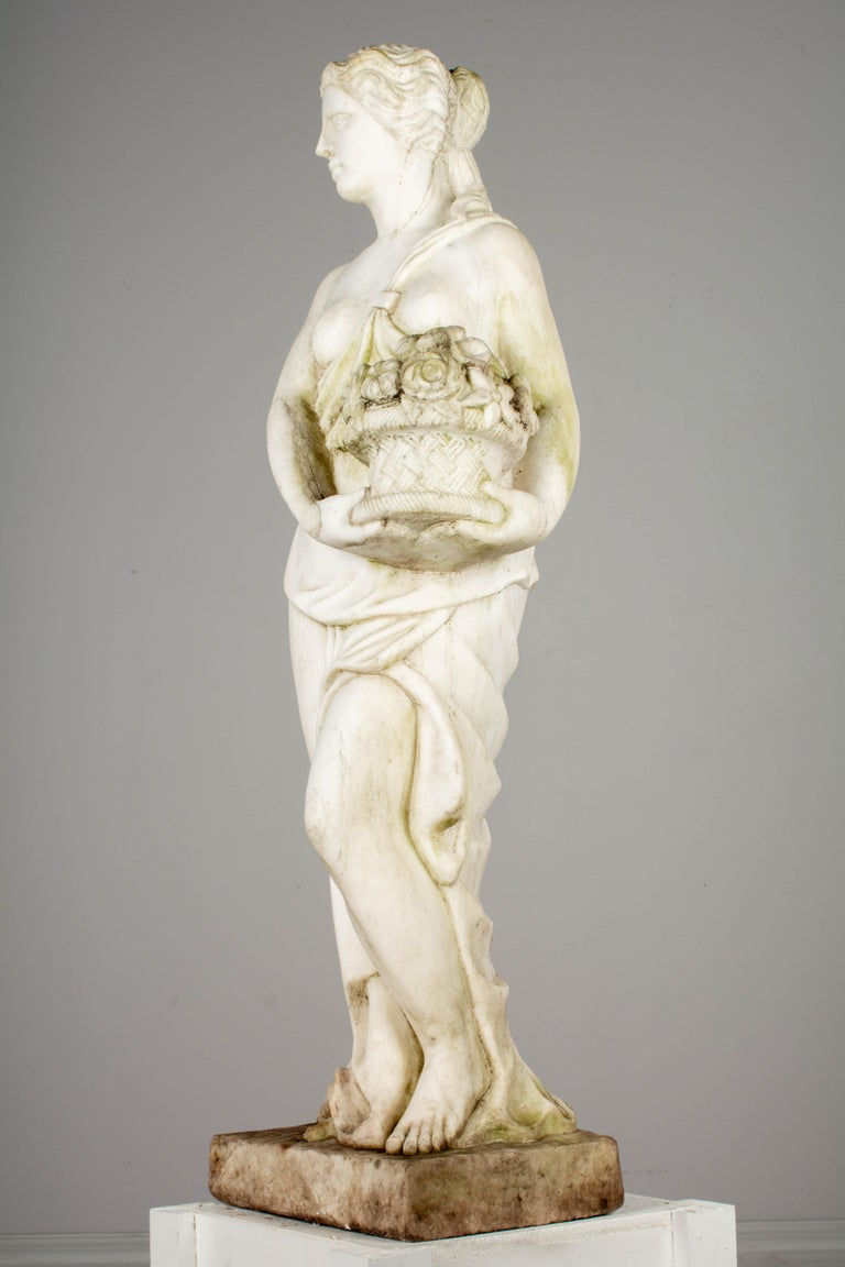 Italian Marble Garden Statue For Sale 7