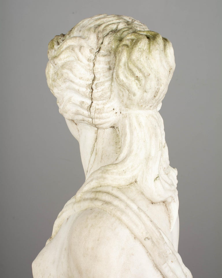 Italian Marble Garden Statue For Sale 8