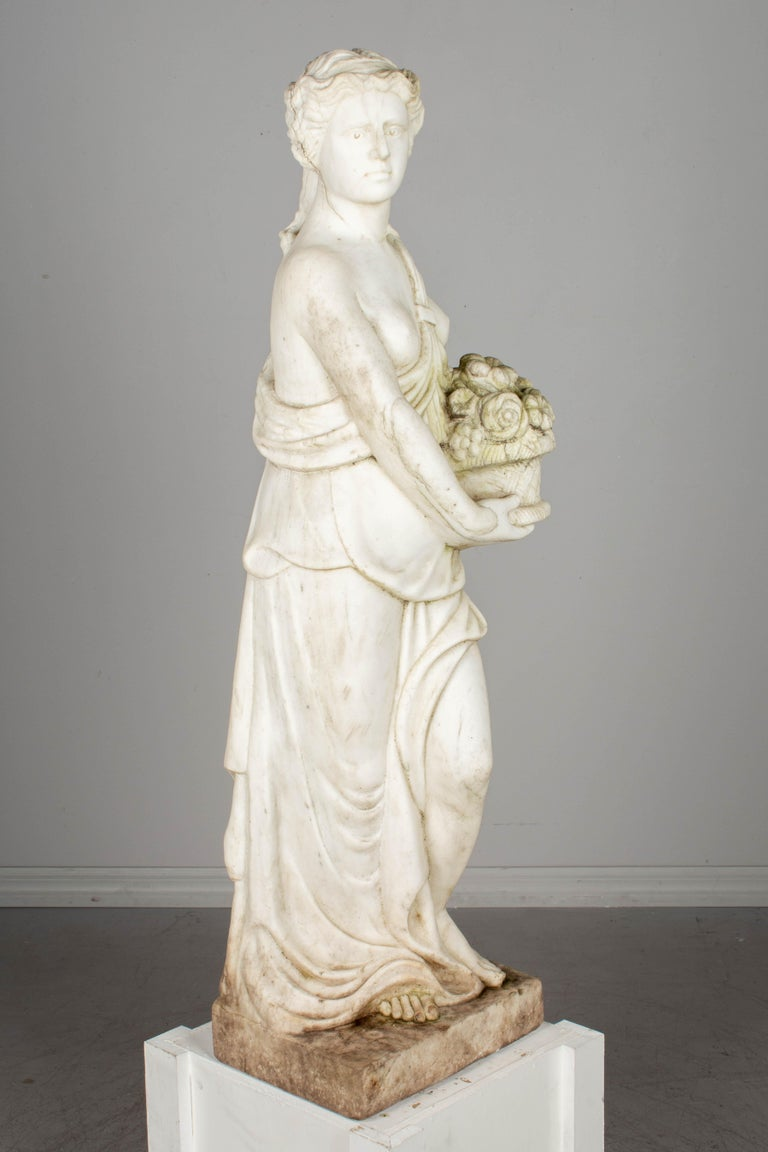 Italian Marble Garden Statue For Sale 1