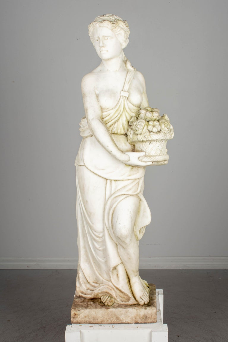 Italian Marble Garden Statue For Sale 2