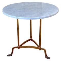 Italian Marble & Gold Guild Gueridon Occasional Table