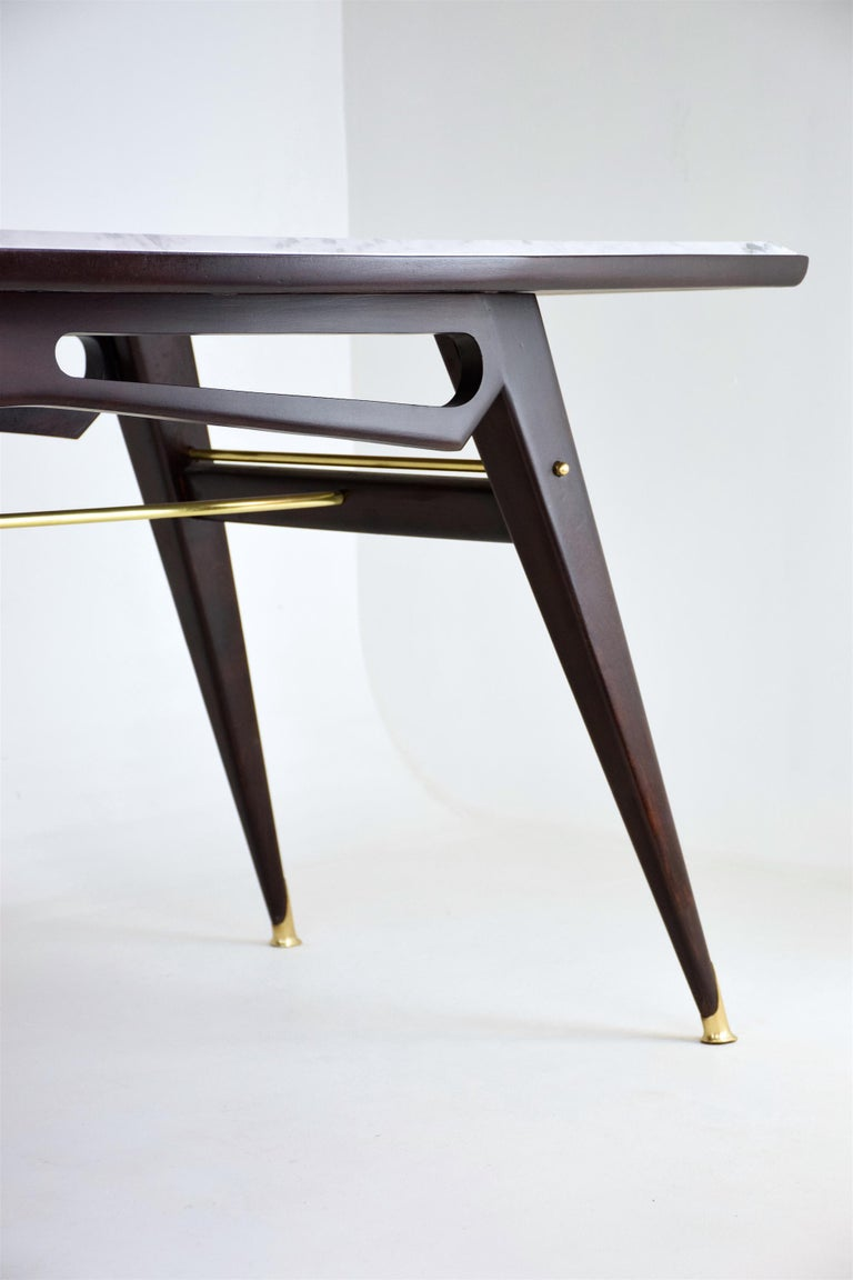 Italian Marble Midcentury Dining Table, 1950s For Sale 5
