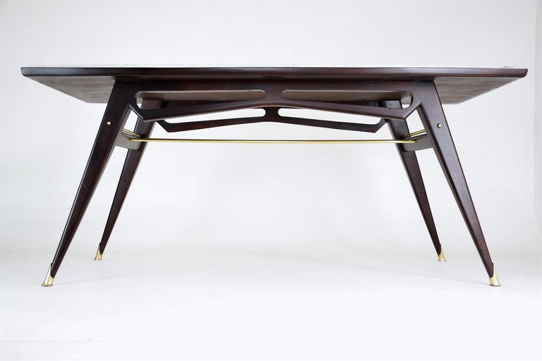 Italian Marble Midcentury Dining Table, 1950s For Sale 6